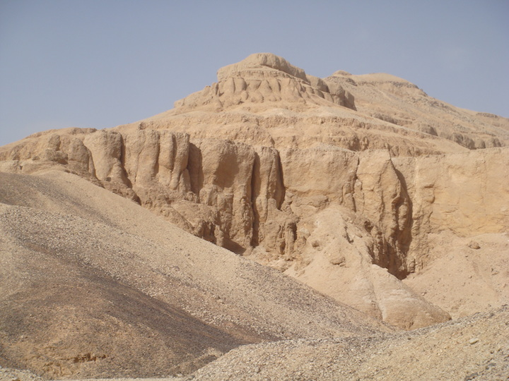 The excavation site at Wadi el-Gharbi in Egypt