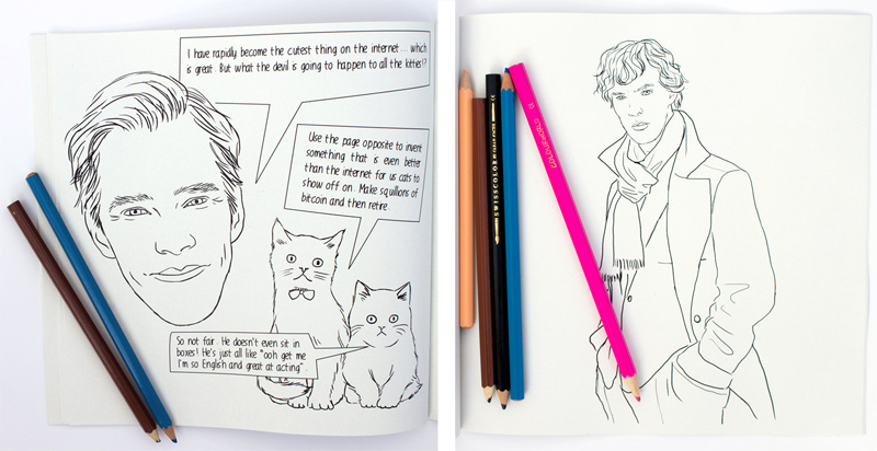 Colour Me Good Benedict Cumberbatch - now you can colour in Benedict Cumberbatch any way you want