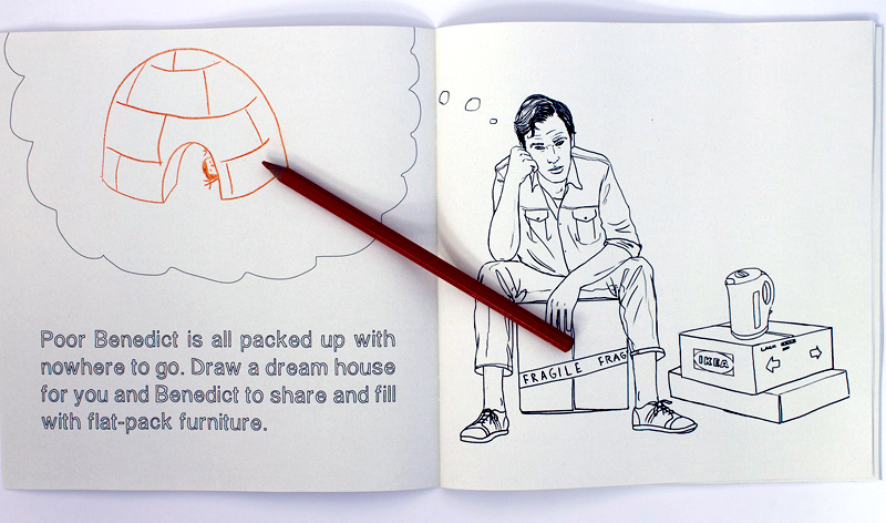 Draw a picture about a dream home you could share with Benedict Cumberbatch