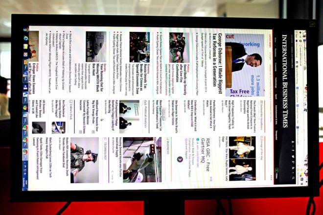 Sideways Computer Screen