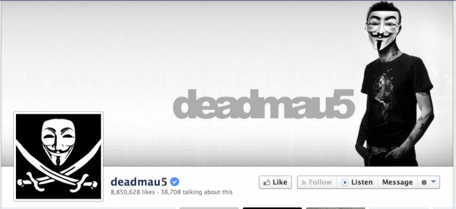 Deadmau5 Twitter & Facebook Hacked by Anonymous