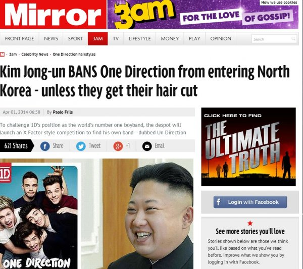 April Fools The Mirror