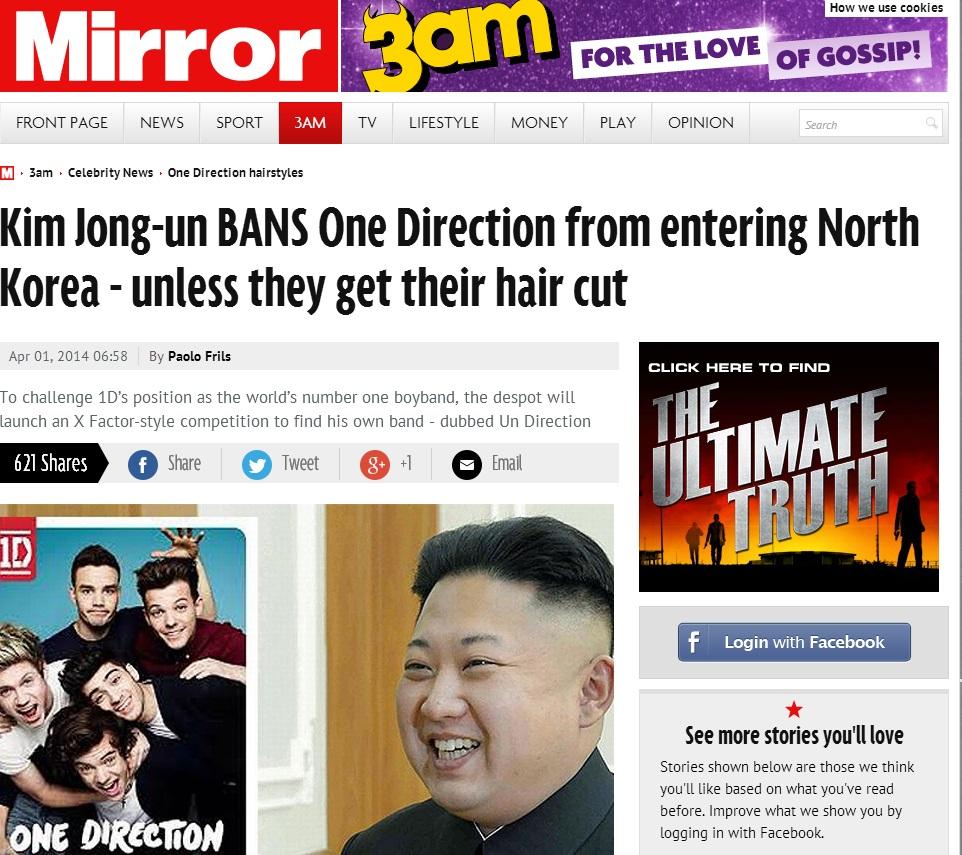 April Fools The Mirror