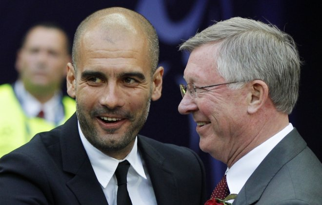 Pep Guardiola and Sir Alex Ferguson