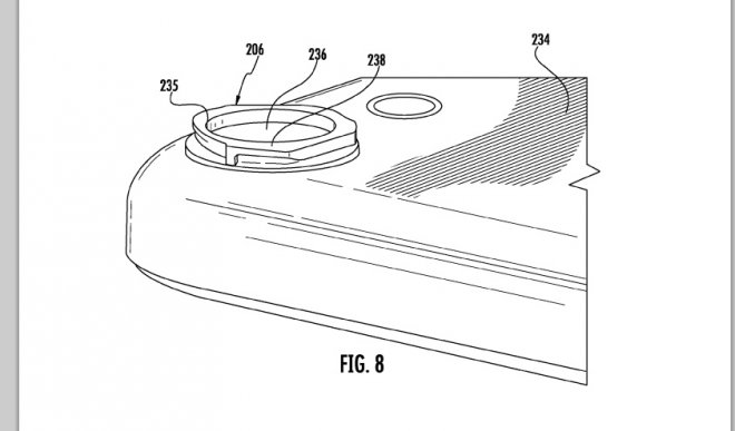 Apple's interchangeable camera lens fits into the back casing of an iPhone