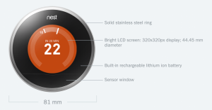Nest Learning thermostat Specs