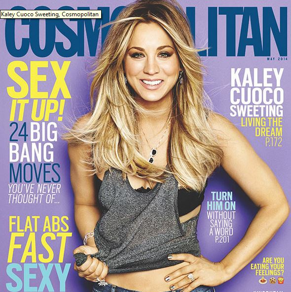 Kaley Cuoco graced the cover of May issue of Cosmopolitan