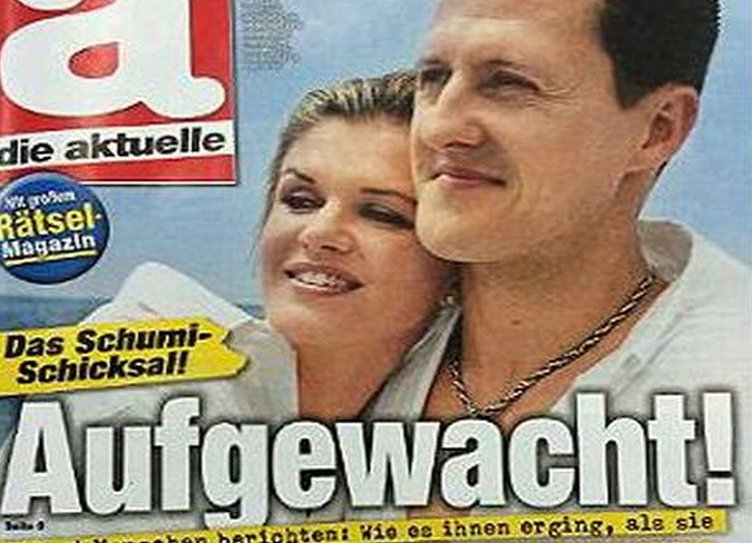 "Die Aktuelle Gets Slammed for tastless ""Awake"" magazine cover with Michael Schumacher and Corinna on it"