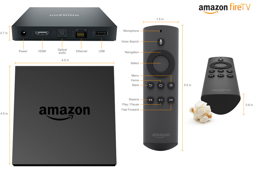 Amazon Fire TV Tech Specs