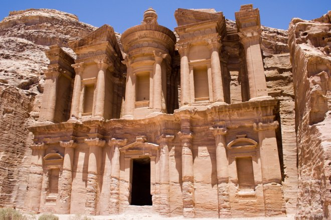 Ad Deir, the Monastery at Petra, was built to align with the sun's movements