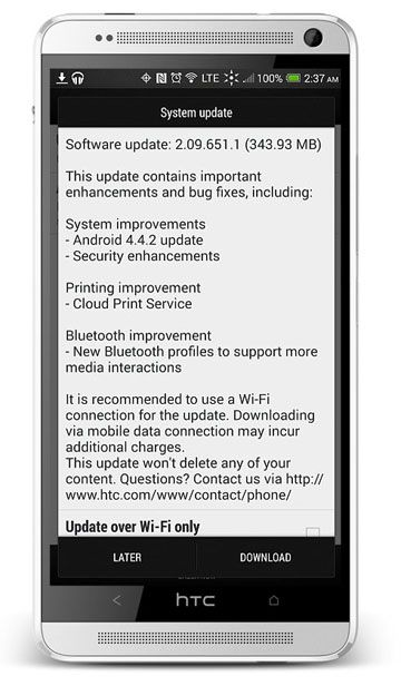 HTC One Max Gets Android 4 4 2 Update with Official OTA Firmware