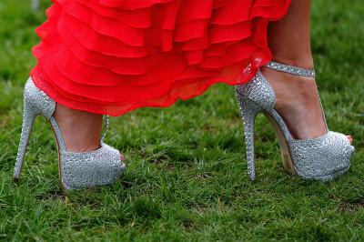 heels grass