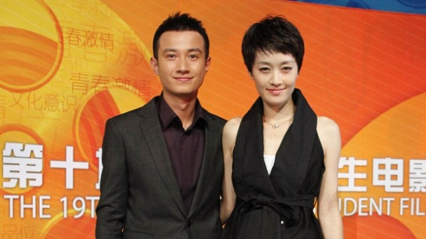 Chinese actor Wen Zhang pictured with his wife Ma Yili