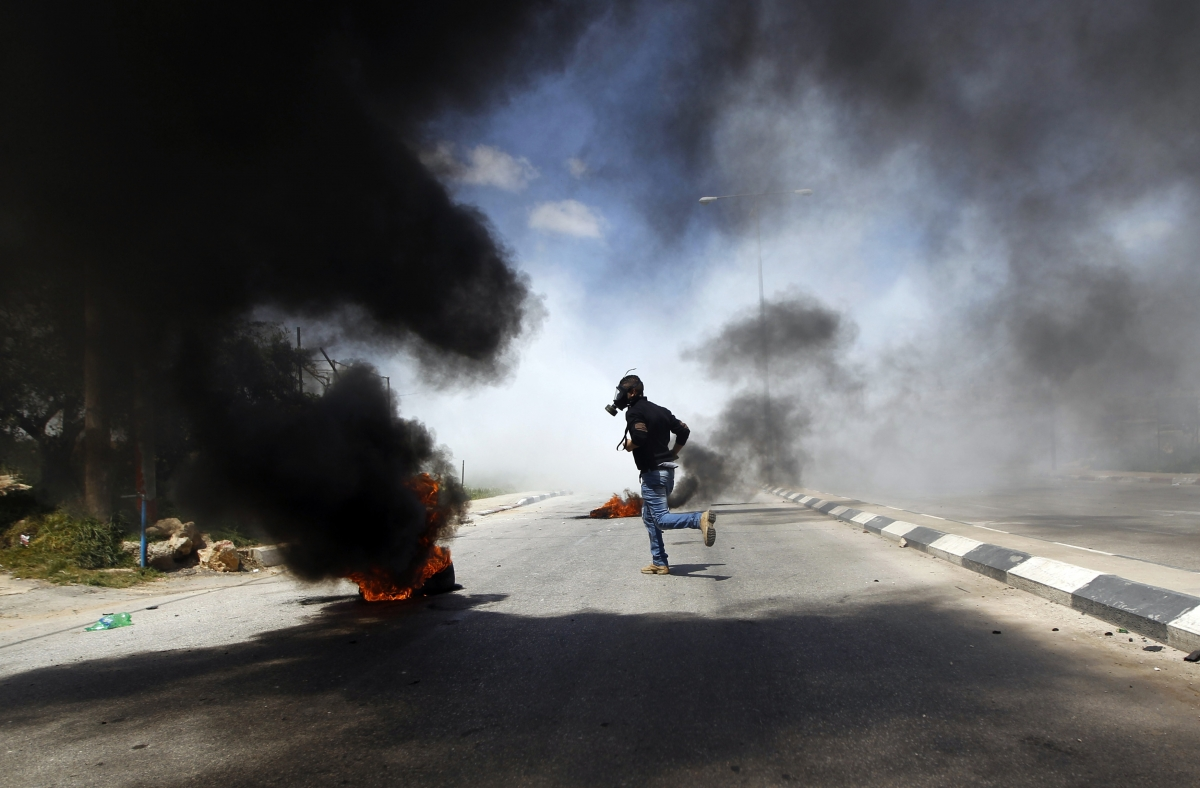 Palestinians Clash with IDF Outside Ofer Prison