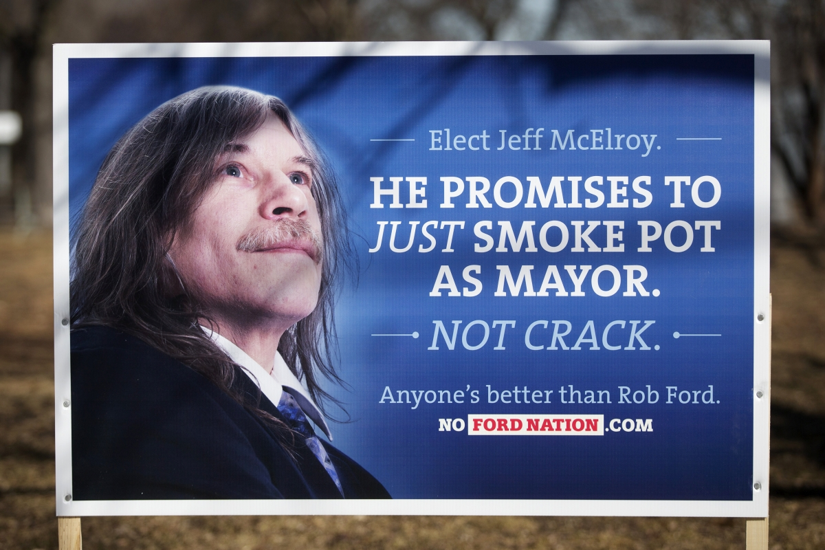 Fake election poster, Canada