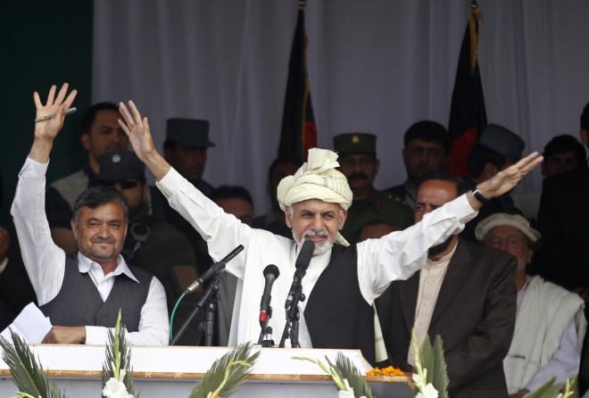 Afghan presidential candidate Ashraf Ghani