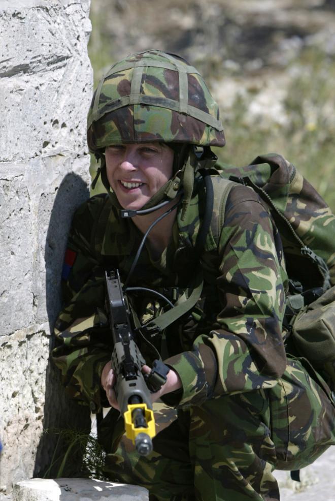 A female Royal Artillery reservist.
