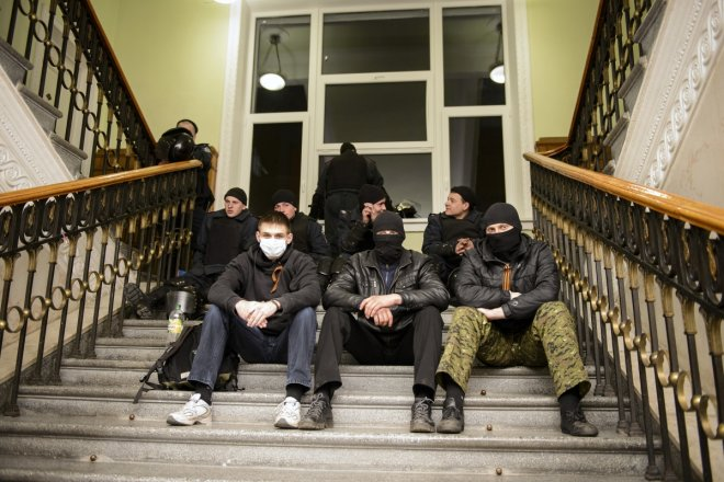 Crimea crisis and unrest in eastern Ukrainian cities