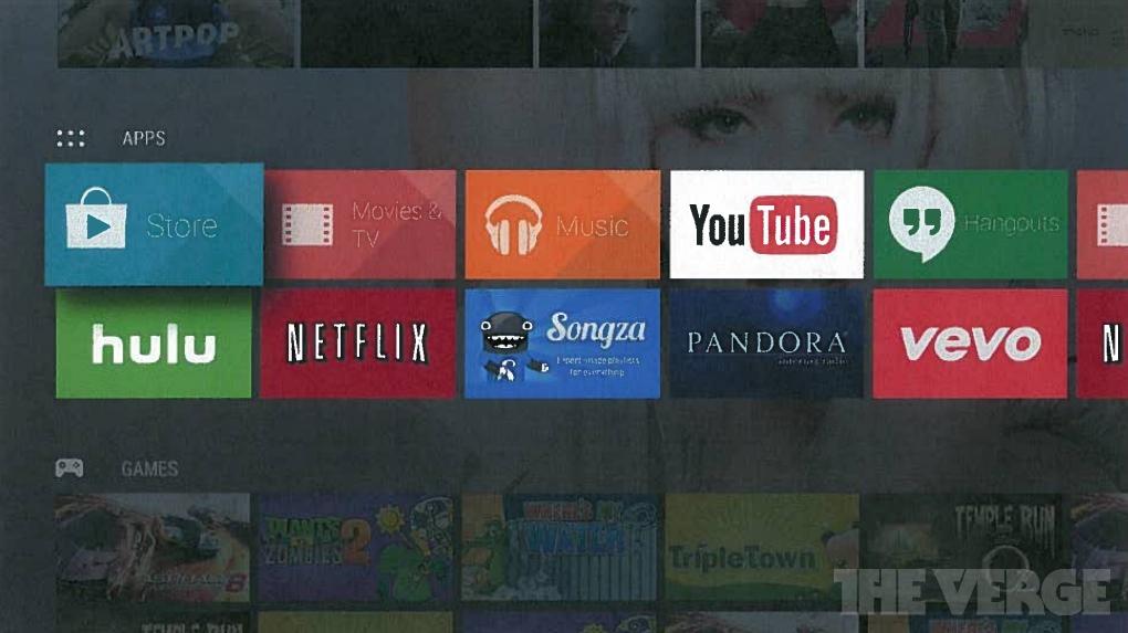 Android TV Interface Netflix