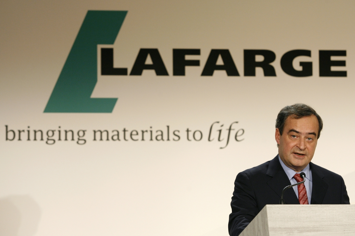 Bruno Lafont, CEO of French building material Lafarge