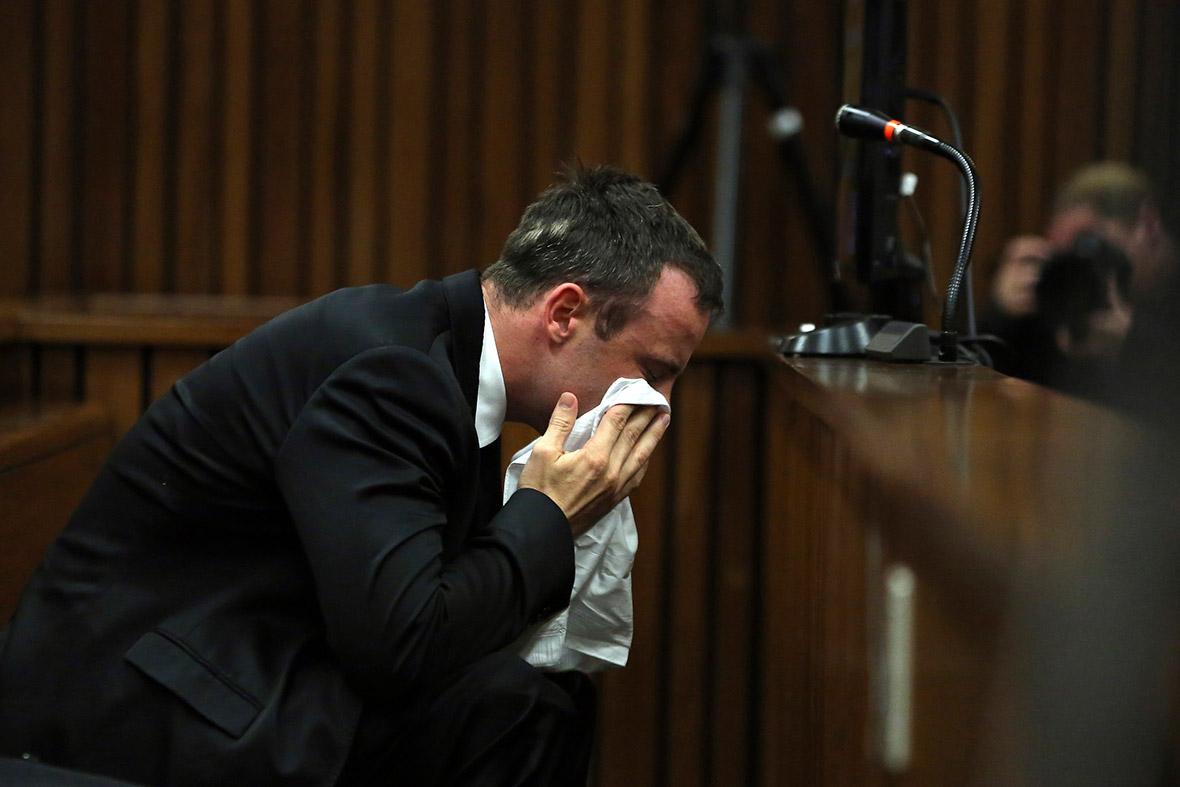 Oscar Pistorius crying
