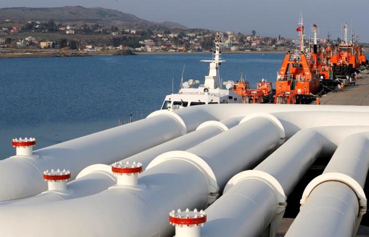Oil Pipes Ceyhan Port Turkey