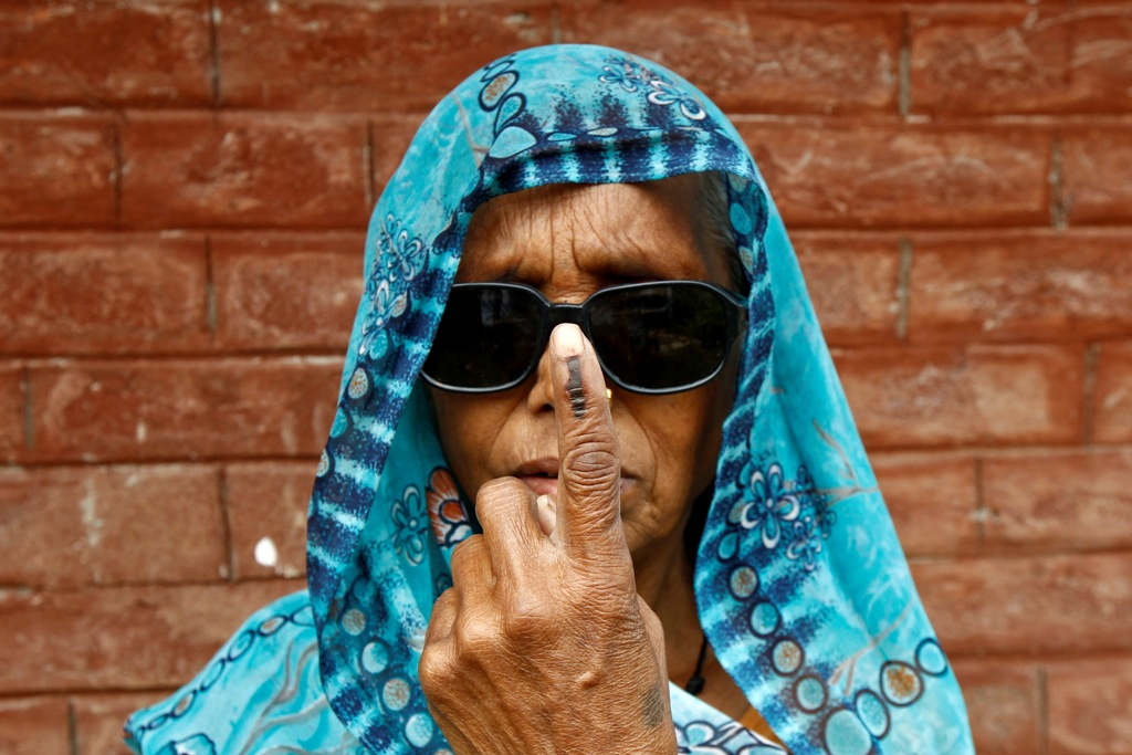 Female Voter India Elections 2014