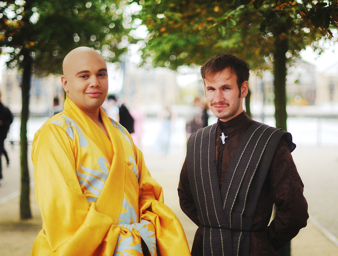 Sweeturk as Lord Varys and Adam Bakes as Petyr