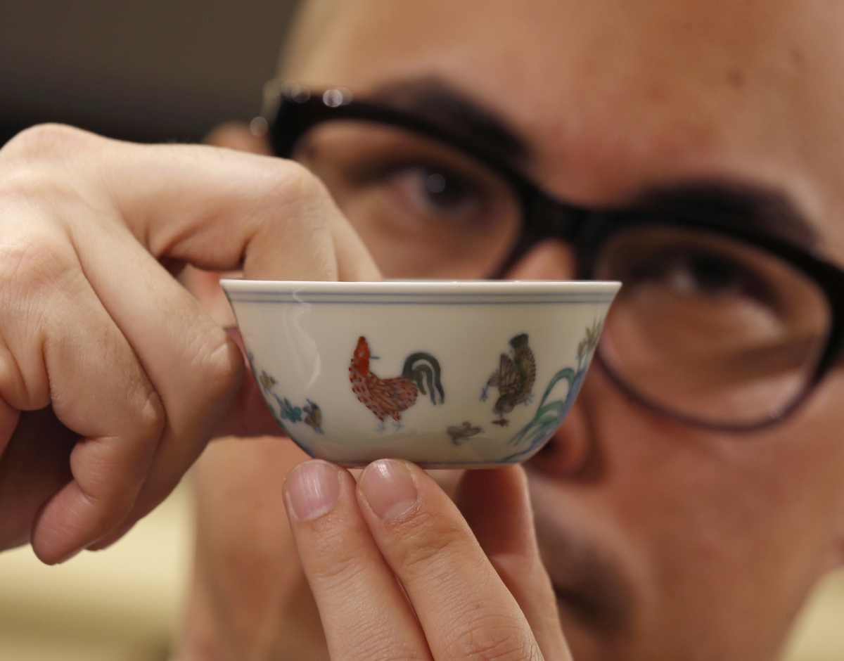 Chicken cup fetches record China art price