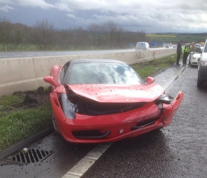 Ferrari crash