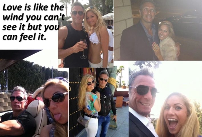 Pretty blonde Mayka Kukucova and Andrew Bush are apparently enjoying each other's company in photographs
