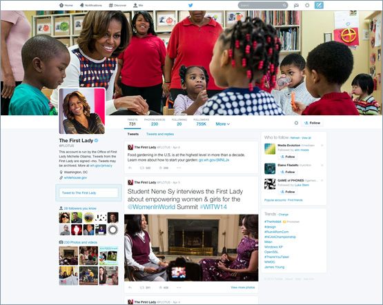 Twitter New Profile Pages