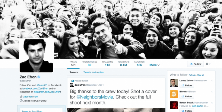 Zac Efron Twitter Profile