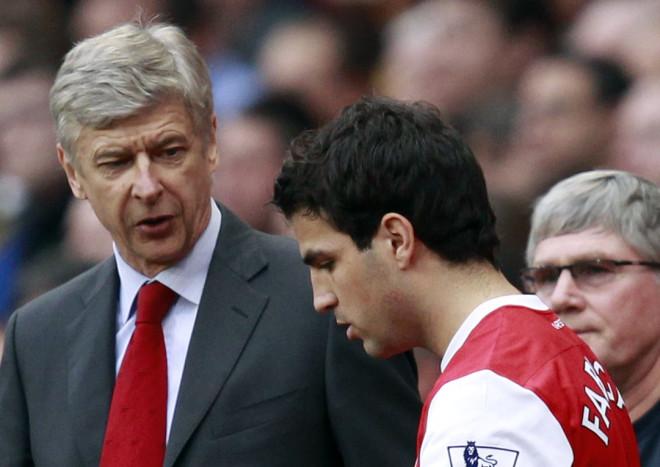 Cesc Fabregas and Arsene Wenger