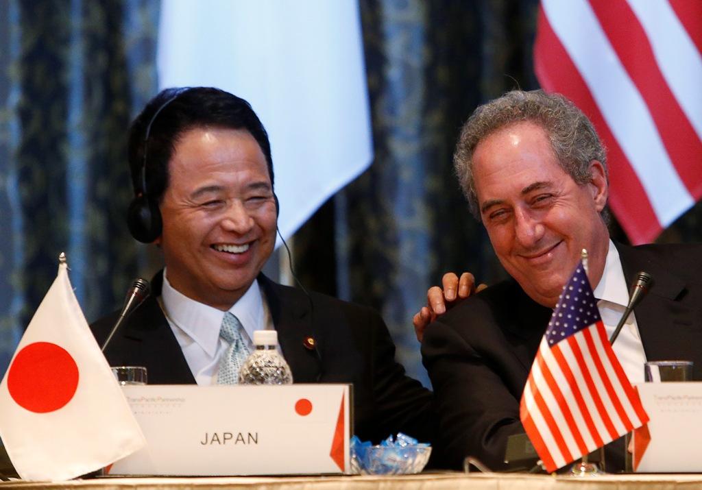 US Michael Froman Japan Akira Amari