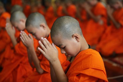 monks pray