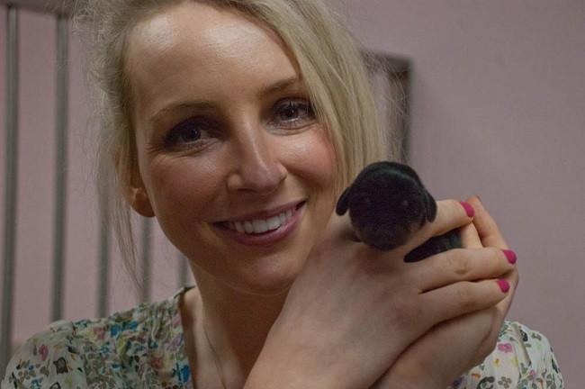 Rebecca Smith with mini-winnie