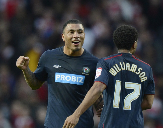 Colin Kazim-Richards made the obscene gesture while on loan for Blackburn Rovers