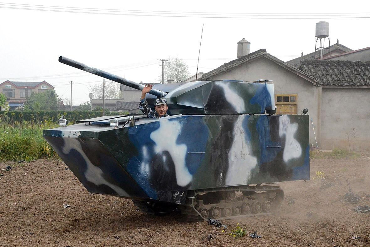 homemade tank