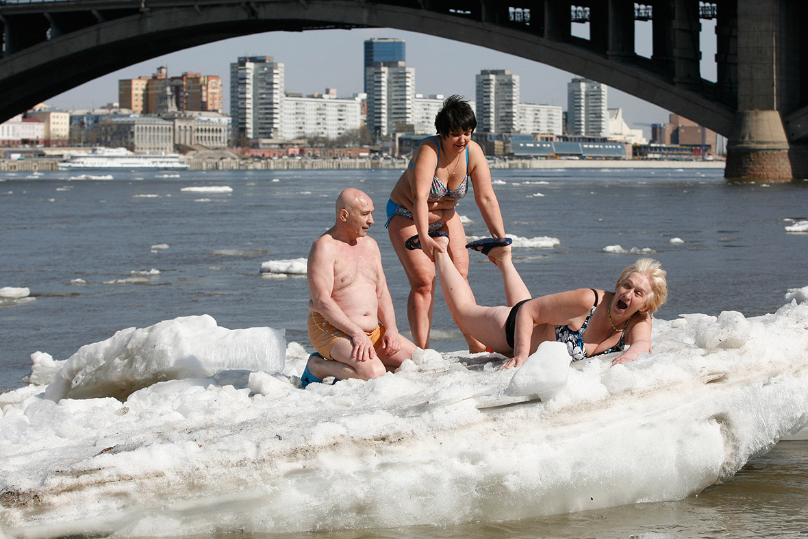 winter swimmers