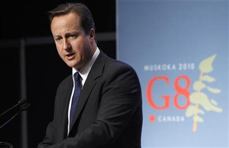 Prime Minister David Cameron gives his closing news conference at the G20 Summit in Toronto
