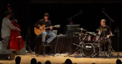 Robot drummer first gig