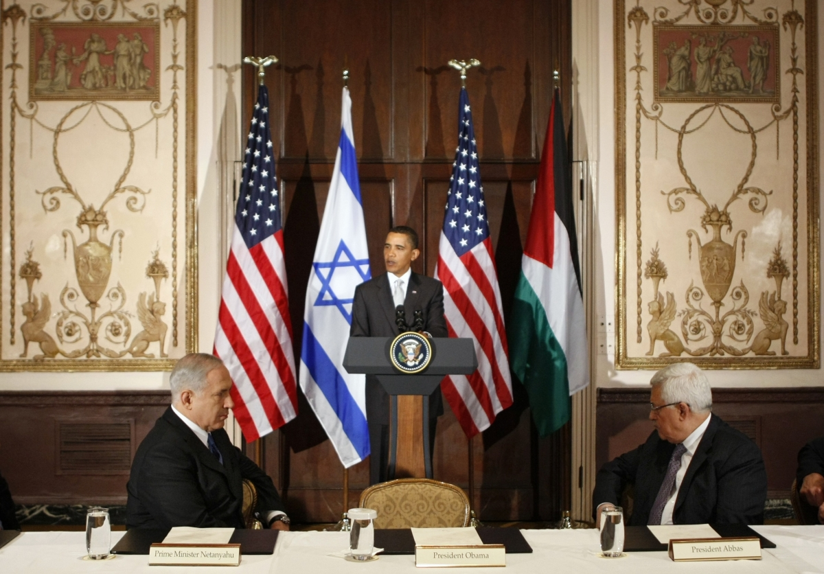 Obama Palestine Israel Kerry Netanyahu Abbas