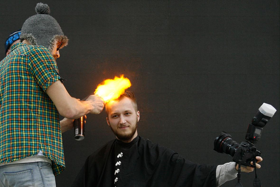 haircut fire