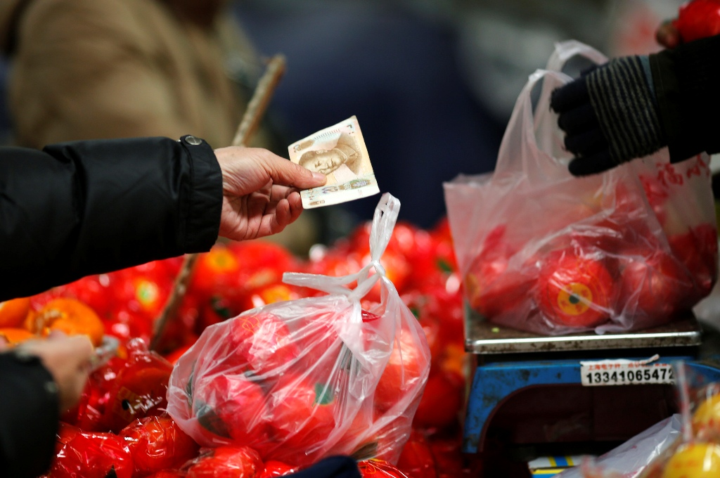 China: Consumer Prices Rise 2.4% in March on Surging Fresh Food Prices