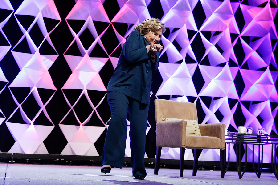 Hillary Clinton Dodges Shoe Thrown at Her During Speech