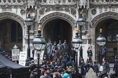 Angry rioters descend on Parliament