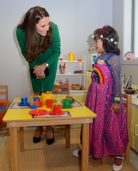 Catherine, Duchess of Cambridge visits Rainbow Place Hospice in Hamilton, New Zealand.