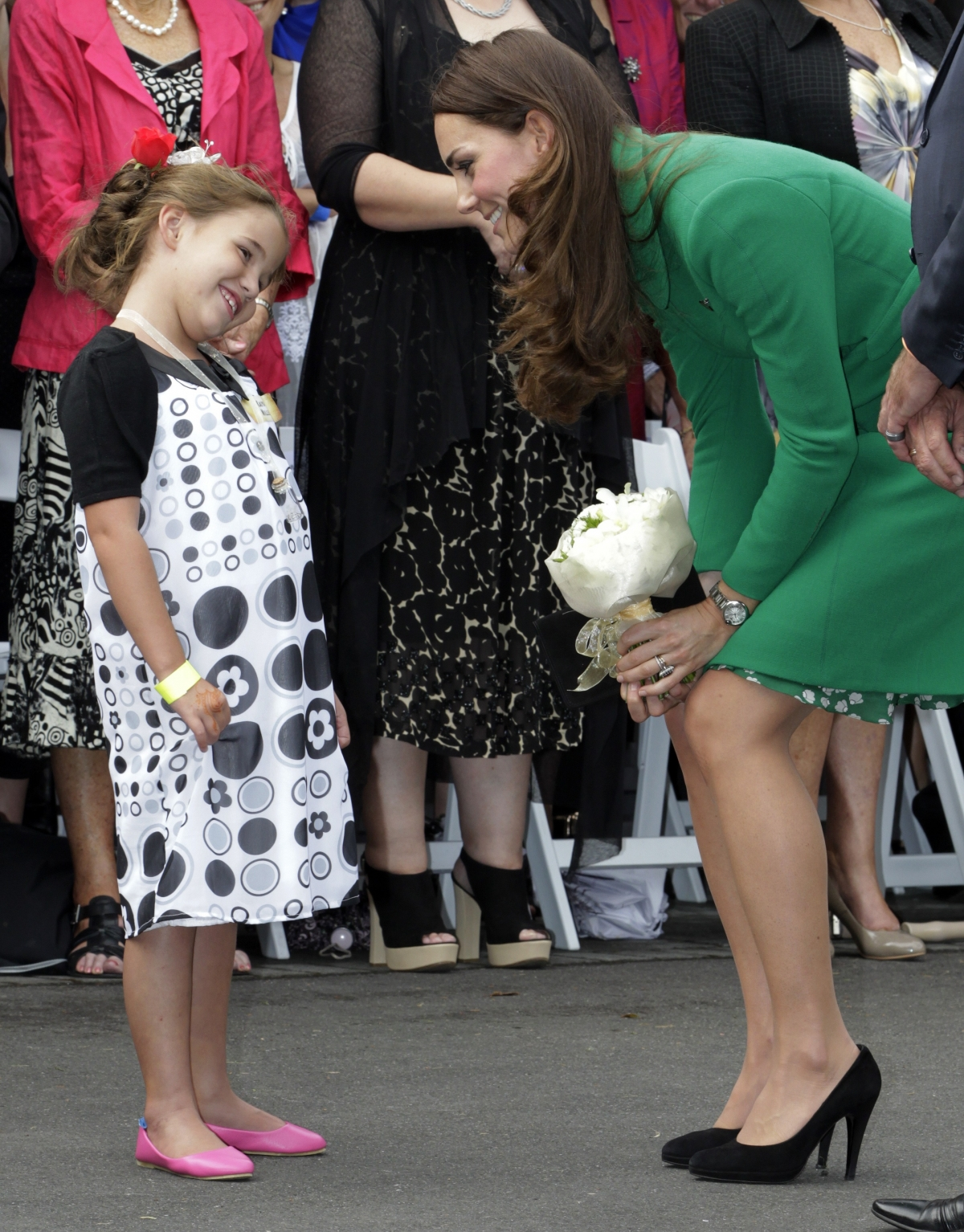 Kate Middleton on walkabout in New Zealand