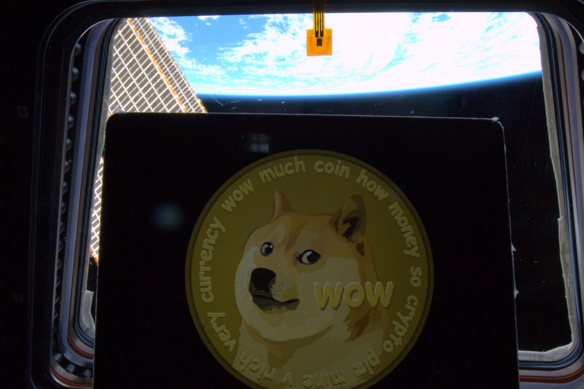 Dogecoin in Space: NAsa Astronaut take picture in International Space Station
